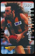 1995 Hawthorn Membership Season Card John Platten Hawks ticket