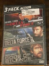 Delta Force / Delta Force 2 / Code of Silence (NEW SEALED 3-Pack DVD) Norris