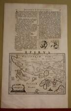 ALBANIA & MACEDONIA GREECE 1661 LAUREMBERG ANTIQUE ORIGINAL MAP