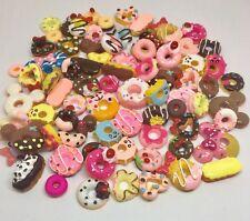 New Designs Doughnut Cabochons Donuts Flat Back Embellishments Decoden - 130 Pcs
