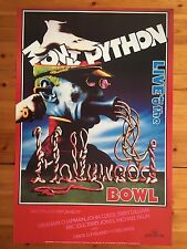 MONTY PYTHON,'LIVE AT THE BOWL,1982' RARE AUTHENTIC 1990's POSTER