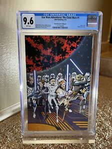 Star Wars Adventures: The Clone Wars #1 Retailer Wraparound Variant B CGC 9.6