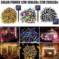 20M 100 LED Solar Power Fairy Lights String Garden Outdoor Party Wedding Xmas