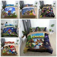 3D Super Mario Duvet Cover Kids Bedding Set Comforter Cover Pillowcase