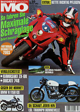 mo 10/02 2002 BMW R1150RS Hornet 900 Ducati 748 ZX 6R Bonneville T100 California