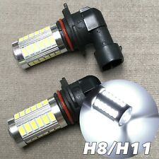 Fog Lights H11 6000K Xenon White 33 SMD LED Bulb Projector Lens DRL Lamp W1 A