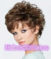 Fashion wig Hot sexy Women's short Dark Brown Curly Natural Hair wigs / Wig cap