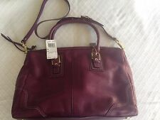 NWT Coach F12444 Large HML Leather Satchel Berry