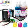 Inkghost CISS for Epson WorkForce WF3620 WF3640 252 252XL 254XL Ink System CIS