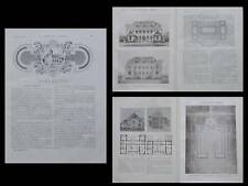 LA CONSTRUCTION MODERNE - n°10 - 1908 - L'AIGLE ORNE, FERME DE HAY, BION