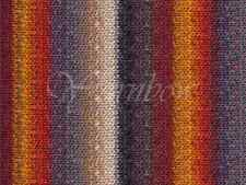 NORO ::Silk Garden #349:: silk mohair wool yarn Black-Grey-Maroon-Orange-Tan