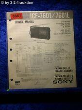 Sony Service Manual ICF A7601 /A7601L Clock Radio (#3861)