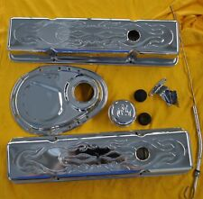 Sbc Small Block Chevy Chrome Dress Up Kit Tall Flamed