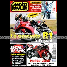 MOTO REVUE N°3678 YAMAHA YZF R1 HONDA CBR 1000 RR VFR 800 GL 1800 BMW F650 CS