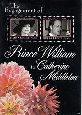 Sierra Leone 2011 MNH Royal Engagement 2v S/S I Prince William Kate Stamps