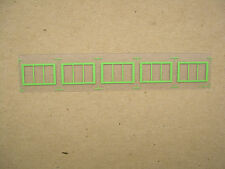 Set of 5 Green Reproduction Windows for American Flyer Stock Yard