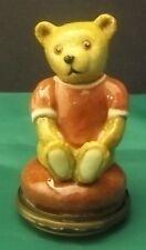 Halcyon days Enamels Teddy Bear Girl Boboniere Box New
