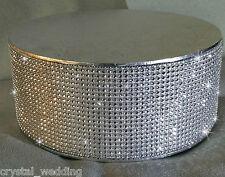 Crystal Diamante Cake Stand Display Pedestal 45 Deep Podium SPARKLE 10