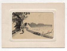 Carte Old Postcard Vietnam Indochine Hanoi Ed. Xunhasaba Hand Painted Unposted