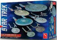 1/2500 Star Trek USS Enterprise Set: NX01, NCC1701, NCC1701 Refit 849398009758
