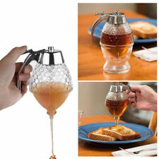 200mL Clear Honey Syrup Dispenser Acrylic Kitchen Holder Pot Container