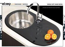 Novelli Blaq Glass Sinkware Oval Sink rrp$798