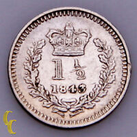 1843/34 Great Britain 1-1/2 Pence KM# 728