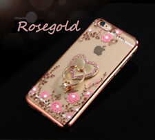 US Shockproof Bumper Silicone TPU Bling Clear Case Cover For iPhone 6 6s Plus