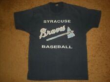 Vtg 1980's - 90's Syracuse Braves Baseball T Shirt Single Stitch 50/50 Usa