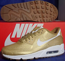 Nike Air Max 90 Hyperfuse Premium iD Metallic Gold White Gum SZ 9.5 (822560-997)