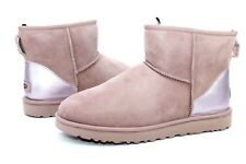 UGG CLASSIC MINI II METALLIC DUSK COLOR SUEDE SHEEPSKIN BOOTS SIZE 12 US