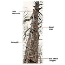 Hunting Tree Stand Climbing Sticks 25' Ladder Sturdy Reliable Holds 300lbs Steel