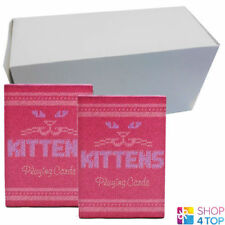 12 DECKS MADISON KITTENS CATS ELLUSIONIST BICYCLE PLAYING CARDS SEALED BOX CASE