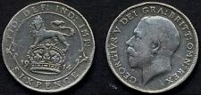 GREAT BRITAIN 6 Pence 1914 AG George V