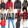 DIVADAMES WOMENS PUFFER PADDED BUBBLE LADIES HIGH NECK WARM CROPPED JACKET-469