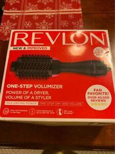 Revlon Salon One Step Hair Dryer & Volumizer Brush Black/Pink New