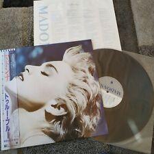 LP - MADONNA  - TRUE BLUE  - JAPAN OBI and insert