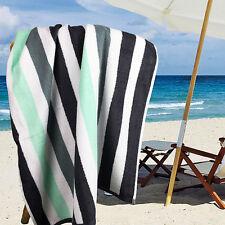 Ramesses 100% Cotton Jacquard Beach Towels, Large Size 150x75cm, Grey Stripe
