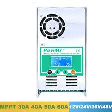Solar Charge Controller 60A 50A 40A 30A Backlight LCD 12V 24V 36V 48V
