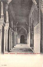 B94556 granada alhambra galeria de frente del patio de los leones  spain