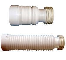 Toilet Waste Soil Pipe 220 - 540mm Flexible Waste Pan Connector WC Loo Repair