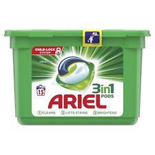 Ariel 3 in 1 Lavadoras Auriculares Original Cápsulas Líquidas Colada Detegent 15