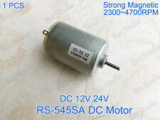 DC 12V 24V Strong Magnetic High Speed RS-545SA  Motor for Office Equipment Tools