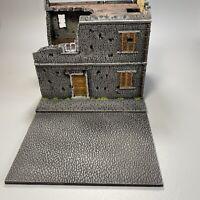 28mm, Painted Terrain, WW2, Damaged Building, Bolt Action,(Dam-1)