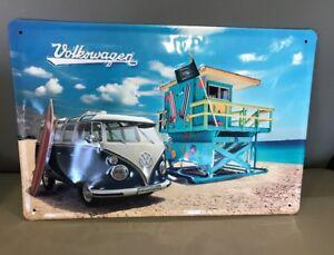 VW Early Bus Split Window Thick HD Metal Embossed Sign DRG-041-08 German made