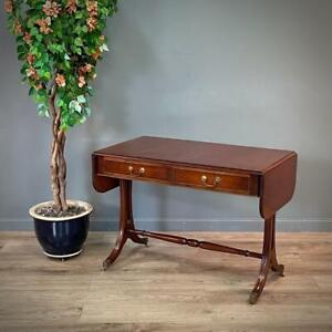 Attractive Reprodux Bevan Funnell Mahogany Sofa Table On Splayed Legs