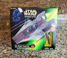 A-Wing Fighter w Pilot 1997 STAR WARS Power of the Force POTF NEW #2