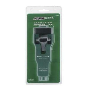 """Door Latch Plate Mortise Jig Tool Installation Guide for 1-3/4"""" or 1-3/8"""" Thick"""