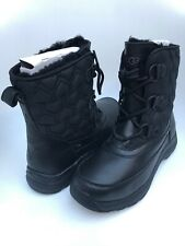 UGG Lachlan Black Waterproof Leather Short Winter Rain Snow Boots Size 8.5