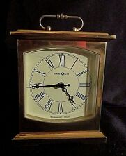HOWARD MILLER SOLID BRASS CARRIAGE CLOCK - Westminster Chime, Battery Included